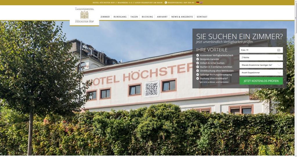 Tagungshotel Höchster Hof neue Homepage