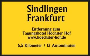 Sindlingen 5,5km 13 Autominuten bis Tagungshotel Höchster Hof