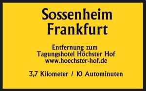 Sossenheim 3,7km 10 Autominuten bis Tagungshotel Höchster Hof