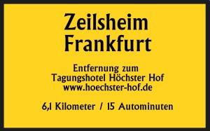 Zeilsheim 6,1km 15 Autominuten bis Tagungshotel Höchster Hof